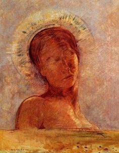 Odilon Redon ~ Closed Eyes, 1899
