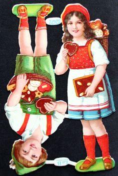 Vintage German Original Gingerbread Die Cut Scraps Decoupage L B 32472 Kids…