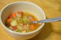 Light Side Vegetable Soup | FitGroove Fitness. A delicious recipe that combines many super vitamin packed veggies for a tasty meal that will leave you feeling full, but fuelled!