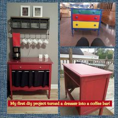 One of our Creative Customers turned a dresser in to a coffee bar!