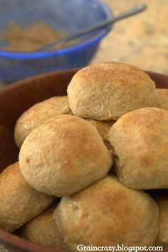 Grain Crazy: Whole Grain Honey Rolls. With Spelt and Kamut flour. So light and fluffy.