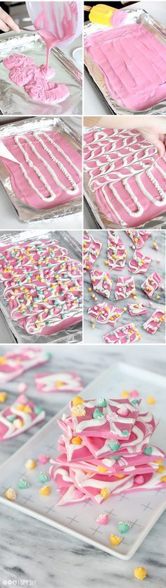 STEPS | Pink Mint Chip Chocolate Bark More