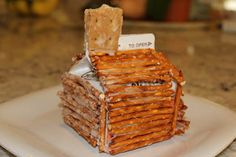 Cute edible log cabin to go with The Courage of Sarah Noble study