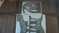 Hendrix Monterey Pop Paint Mask Airbrush Stencil by Jennastencils
