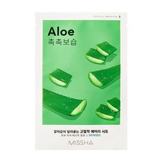 MISSHA Airy Fit Sheet Mask (Aloe) – Plátýnková maska s výtažkem aloe vera :: Missha.cz Missha Skincare, Mochi, Rice Cake, Tea Tree Mask, Cleansing Face Mask, Aloe On Face, Cosmetic Database, Alcohol, 20 Minutes