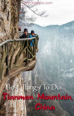 Tianmen Mountain: best things to do on a visit here. Ride one of the world's longest cable cars, walk on narrow pathways clinging to the vertical cliffs, ride on China's most dangerous road. In China, China Trip, Shanghai, Places To Travel, Places To Visit, Travel Destinations, Tianmen Mountain, China Travel Guide, Peking