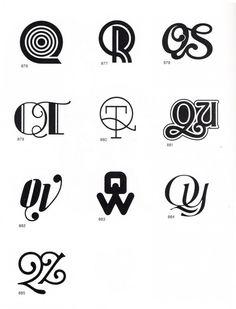 An Alphabet Made Up Of Beautiful Monogram Logos