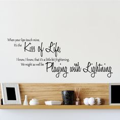 Cool The Wanted Lightening Lyrics Wall Sticker