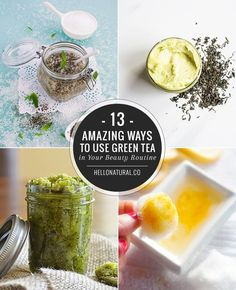 13 Amazing Ways to Use Green Tea in Your Beauty Routine | http://hellonatural.co/13-green-tea-beauty-recipes/
