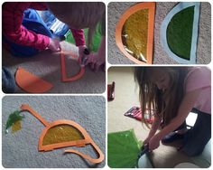 The Mini Mes and Me: Watch, Bake, Create - #Dinosaur. #D is for dinosaur, #window #art #craft #kids