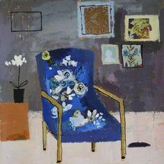 Charlotte Hardy: Blue Geranium Chair
