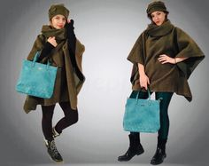 Wool green woman poncho with hat .Warm, comparable and easy to wear . Handmade unique poncho.Style poncho with hat.#wool#woman#poncho#handmade#hat#design#sewn#style#girl#gift#wear#warm#comparable#beautiful#winter#classic#vintage#winter Wool Poncho, Vintage Winter, Girl Gifts, Classic Style, Etsy Seller, Normcore, Hat, Woman, Trending Outfits