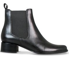 This equestrian inspired ankle boot is crafted from rich smooth black leather and features a traditional chelsea gusset. Baelan has a pull tab at the back for easy access and removal, and is a year round wardrobe staple.   Leather upper Leather lining