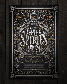 typeverything:  Typeverything.com  Craft Spirits Carnival poster by Joel Felix.