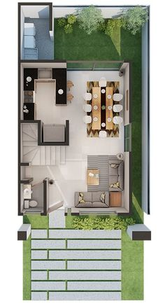 House design - Best home modern small layout ideas Sims House Plans, House Layout Plans, Duplex House Plans, Small House Plans, House Floor Plans, Simple House Design, Tiny House Design, Modern House Design, Layouts Casa
