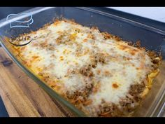Casserole with minced meat and mashed potatoes - light and tasty Lasagna, Mashed Potatoes, Macaroni And Cheese, Casserole, Pizza, Tasty, Meat, Ethnic Recipes, Form