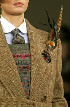 Ralph Lauren tweed and fair isle Look Fashion, Timeless Fashion, Autumn Fashion, Vintage Fashion, Mens Fashion, Fashion Design, Fashion Trends, Diy Fashion, Country Wear
