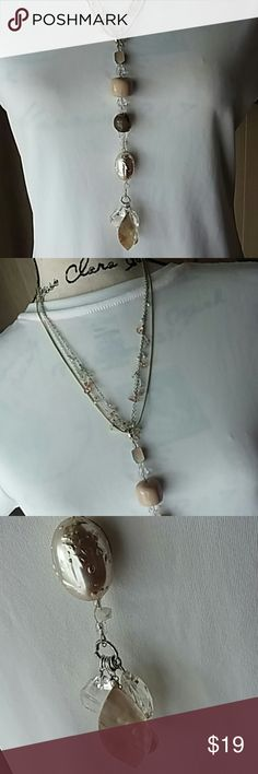 Glorious NECKLACE by Chico's 3 strand 28th exstender Mother of Pearl Be-u-ti-full Statement piece  Price is firm. NO TRADES please Chico's Jewelry Necklaces