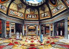 Sala octogonal de la Domus Aurea