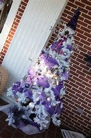 Image result for Purple Themed Christmas Tree