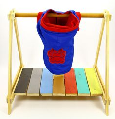 Chaqueta Impermeable Azul y Rojo