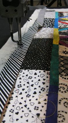 """Binding Applied with Longarm Quilting Machine by Karen Walker of """".laugh yourself into Stitches"""" Quilting Room, Longarm Quilting, Quilting Tips, Free Motion Quilting, Quilting Tutorials, Machine Quilting, Quilting Projects, Quilting Designs, Quilting Frames"""