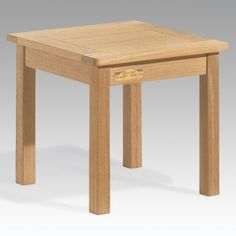 Oxford Garden Shorea Wood Square Outdoor End Table - CDET