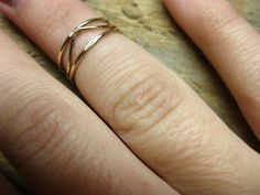 Gold filled Midi/First Knuckle Rings on Etsy, $17.00