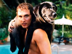 MATTHEW MCCONAUGHEY and Dog PICTURES PHOTOS and IMAGES