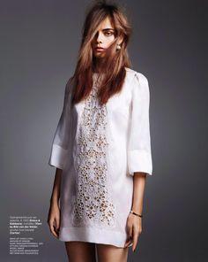 Stille Kacht: Nimue Smit in Docle & Gabbana by Klaas Jan Kliphuis for Marie Vlaire Netherlands January 2014