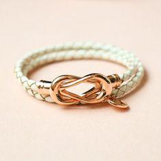 Dream Weaver Double Leather Bracelet - Creamy White Bow Bracelet, Bracelets, Creamy White, Women Jewelry, Bows, Leather, Arches, Bowties, Bracelet