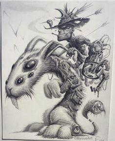 Pencil drawing by artist . Arte Horror, Horror Art, Dark Art Drawings, Cool Drawings, Illustration Sketches, Art Sketches, Arte Do Kawaii, Arte Steampunk, Desenho Tattoo