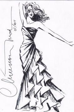 DESENHOS DE MODA Fashion Illustration Sketches, Fashion Design Sketches, Illustration Girl, School Fashion, Fashion Art, Become A Fashion Designer, Baby Drawing, Dress Sketches, Love Design