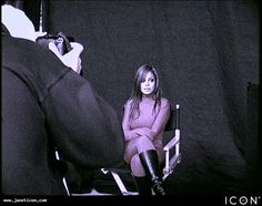 Janet on set – 'Feedback'