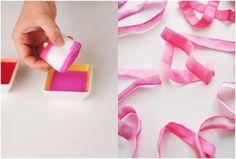 Dip Dye Ribbons ~ tutorial | Mama's Style