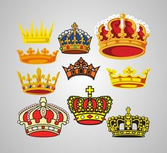 Free Vector Crownsby premium, under Graphics, Vector illustrations Elegant set of vector crowns and diadems. There are 10 vector shapes of crowns in luxury styles, crowns comes in vector format, so all elements are fully editable. Enjoy!