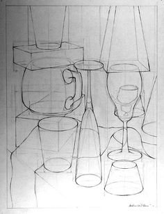 contour drawing, perspective, proportions, negative spaces, ellipses, and line weight