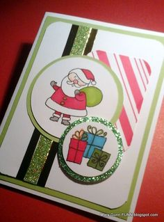 Santa card using #CTMH products and #MojoMonday425 design by Mary Gunn FUNN