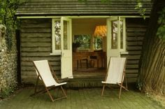 Virginia Woolf's Writing Lodge in the garden at her Monk's House retreat