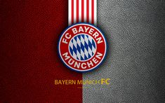 Download wallpapers Bayern Munich FC, 4k, German football club, Bundesliga, leather texture, emblem, Bayern logo, Munich, Germany, German Football Championships