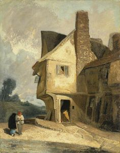 ca. 1806 An Old House at St Albans oil on millboar