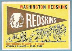 vintage illustration washington redskins - Google Search