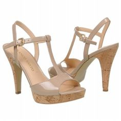 "Nude T-Strap from Franco Sarto - finally a cork heel that isn't over 5""!  Wearable!  Must have this."