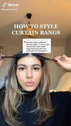 How to style curtain bangs 2021