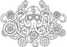 Embroidery Designs at Urban Threads - Mechanica Aquatica (Design Pack) Embroidery Designs, Paper Embroidery, Hand Embroidery Patterns, Embroidery Tattoo, Embroidery Stitches, Mandala Art, Steampunk Tattoo Design, Octopus Tattoo Design, Urban Threads