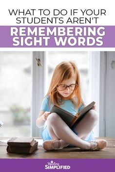 Check out this video where I discuss the 1st–and most essential–step in teaching sight words. Discover how the right first step can make or break many readers achievement and stop frustration! #readingsimplified #readingdifficulties #elementaryteacher #teachtoread #readingstrategies #sightwords
