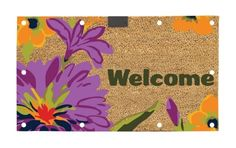 """Evergreen EverOptics, Welcome Flora,Lighted Coir Floormat,28x16 Inches by Ashley Gifts. $29.99. anti-skid surface;Easy to clean. Coconut fiber coir material; Fade and weather resistant. Size is: 28""""X16""""X0.6"""". Recycled rubber backing. Light up your steps with the EverOptic Luminous Mat!. The LED lighting system uses 10 Embedded super bright led lights to light up the dark when the mat is stepped on.The mat will stay lit for approximately 60 seconds. Using a timer, the lig..."""