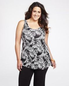 Hi-Low Tank paired with black bermudas or white capris... FAB! #AdditionElleOntheRoad