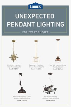 Shop unexpected pendant lighting options at unexpected prices today ideas diy ideas decoration ideas for small spaces ideas modern ideas farmhouse ideas color Budget, My New Room, Rustic Chic, Better Homes And Gardens, Home Projects, Home Remodeling, Pendant Lighting, Kitchen Remodel, Designer