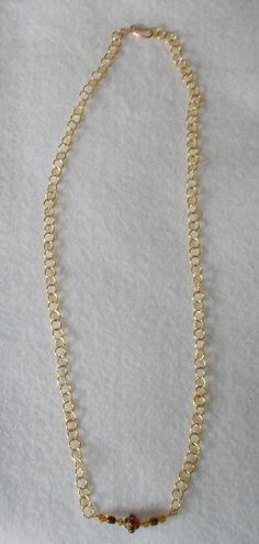 The Lillystone Collection Classic Brown and Gold Chain Necklace $40 http://www.AmysHandmadeJewelry.com/LLST11